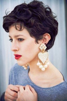 15 Inspirations of Pixie Hairstyles For Thick Curly Hair