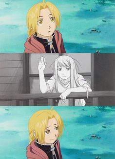 Edward Elric and Winry Rockbell | Fullmetal Alchemist / Fullmetal Alchemist Brotherhood #ed #edwin