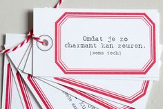 Clodette by Serax Message Taggs. Soon available in French and English