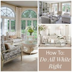 We give you tips and tricks on how to do the ALL WHITE trend the RIGHT way!