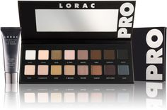 Go PRO with the LORAC PRO Palette! Created by celebrity makeup artist Carol Shaw, the PRO Palette contains 16 eye shadows and a mini Behind The Scenes Eye Primer for stay-true color that lasts, a PRO must-have. A $110 value!.