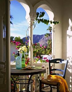 breakfast in Santorini, Greece