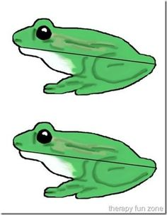 frog printable for clothespin craft where frog eats fly