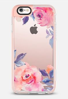 Cute Watercolor Flowers Purples + Blues iPhone 6s case by Angie Makes   @casetify