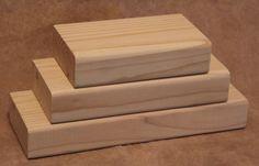 Unfinished Stacking Blocks, Unfinished Wood Block Trio, DIY Craft Blocks, Plain…