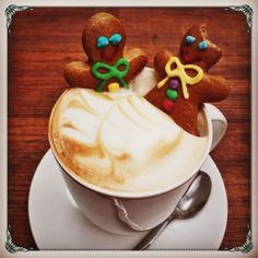 Life is too short, drink a hot cuppa and stay awake for it! #Cappuccino #Fluffy #Cream #GingerBreadMan #Woman #Soaking #Eatable #MorningFun #WorkPlace #BreakTime #WakeUpCall #NomNom