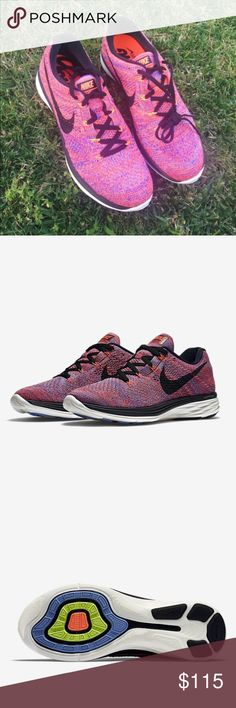 ✨🆕✨{Nike} Flyknit Lunar3 Women's size 9. Super cute as much as Roshe and go with any outfits. These are the most comfortable Nike in my opinion. Good for running, training....Brand new, never been worn. I'll pack them in a designer box to keep them safe. Color: black, purple, orange, white...Price is firm.   ❌ NO TRADES - SELLING ON POSH ONLY ❌ ❌ NO LOWBALLING ❌  ✅ Bundle Discounts ✅ Ship Next Day of Purchase  💯 % AUTHENTIC Nike Shoes