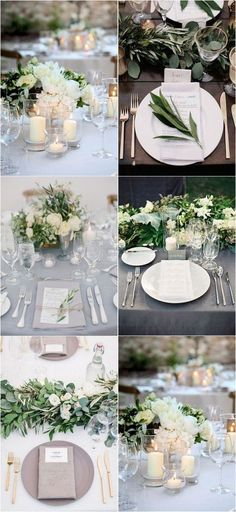 12 Super Elegant Wedding Table Setting Ideas - EmmaLovesWeddings elegante Hochzeit Tischdekoration I Trendy Wedding, Elegant Wedding, Rustic Wedding, Dream Wedding, Wedding Table Ideas Elegant, Romantic Table, Glamorous Wedding, Wedding Centerpieces, Wedding Decorations