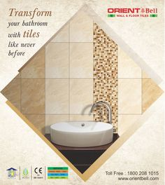 Transform your bathroom with tiles like never before.