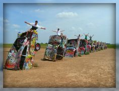 Route 66!  The Cadillac Ranch just outside Amarillo, Texas - Finally got to see this up close and personal in 2011!
