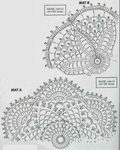 CROCHE DA ANJINHA: Graficos de toalhinhas em croche