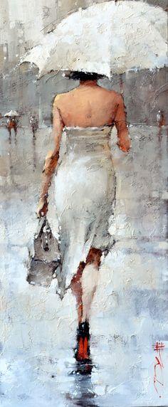 """On the theme of white"" x Oil by Andre Kohn. - my art - ""On the theme of white"" x Oil by Andre Kohn. Umbrella Art, Portrait Art, Figurative Art, Female Art, Watercolor Art, Art Drawings, Art Gallery, Illustration Art, Paintings"