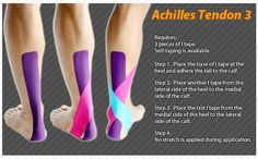 Kinesiology taping instructions for the achilles tendon #ktape #ares #achillestendon