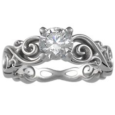 infinity engagement ring. I have always been a fan of the infinity sign. this would be cute for just a band without the diamond.