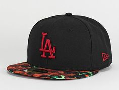 Los Angeles Dodgers Orchid Visor 59Fifty Fitted Baseball Cap by NEW ERA x MLB