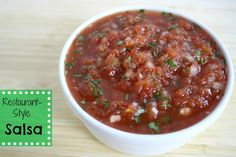 Restaurant-Style Salsa (quick and easy in the blender)