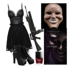 """The purge costume"" by fernandajacobo ❤ liked on Polyvore featuring Alexander McQueen"