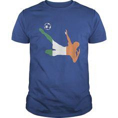 Soccer Football Republic of Ireland Euro Flag sport T shirt