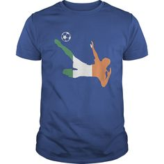 Soccer Football Republic of Ireland Euro Flag sport T shirt