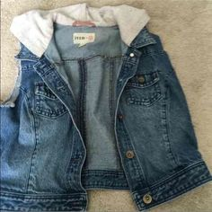 FEED jean jacket vest Only worn a couple times Jackets & Coats Vests