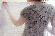Lilaceous shawl: Knitty Winter 2012. Pretty | REPINNED