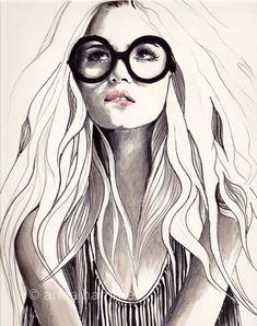 Can't Remember His Name 8 X 10 Print of Original Fashion Illustration by anna hammer, via Etsy.