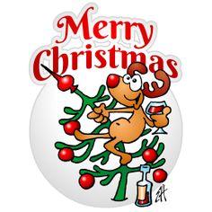 "A reindeer in a Christmas tree ""Merry Christmas"" fc T-Shirt design. #Tshirts #illustration #design #drawing #customprint #POD #CardvibesCatalog #Cardvibes #Tekenaartje #Zazzle #Spreadshirt #Redbubble #Society6"