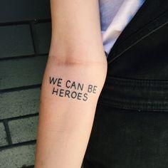 We Can Be Heroes. By Alexis Hepburn @ Crossfire Tattoos, Aus