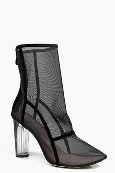 Lola Clear Cylinder Mesh Sock Boot