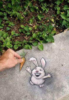Increíble arte callejero de David Zinn