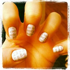 Newspaper Nails!!!