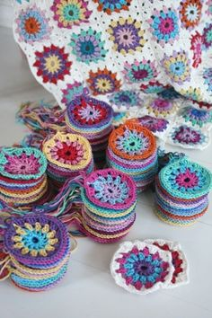 Colorful, Crocheted Christmas Ornaments