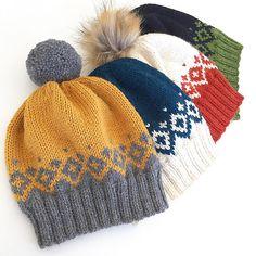 Ravelry: Kongvinterlue / Father Frost Hat pattern by Strikkelisa hat kids english Kongvinterlue / Father Frost Hat Knitted Hats Kids, Knit Hats, Fair Isle Knitting Patterns, Hat Patterns, Knit Crochet, Crochet Hats, Fingerless Mittens, Knitting For Beginners, Knitting Projects