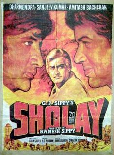 A Police Officer, whose family was killed by a bandit named Gabbar Singh, decides to fight fire with fire and recruits two convicts, Jai & Veeru, to. Bollywood Theme, Bollywood Posters, Vintage Bollywood, Top Movies, Movies To Watch, Movies Free, Splash Movie, Indian Movies, Streaming Movies