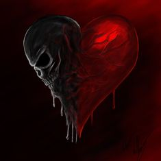 Dark side of my heart by Blackidus on DeviantArt Skull Wallpaper, Heart Wallpaper, Arte Horror, Horror Art, Arte Emo, Totenkopf Tattoos, Skull Pictures, Arte Obscura, Skulls And Roses