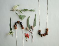 homemade nature necklaces