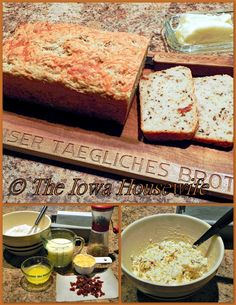 The Iowa Housewife: Make It Yourself...Herbed Sun-dried Tomato and Cheese Loaf