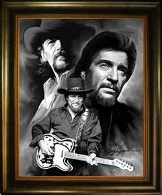 American Country Music Singer Songwriter Musician Waylon Jennings ...