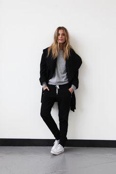 Black Rebel Harem Pant, In My Pocket Sweater, Drippy Long Jacket, Tommy Studded Chucks