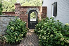Horse Country Chic: Through the Garden Gate- love the brick!
