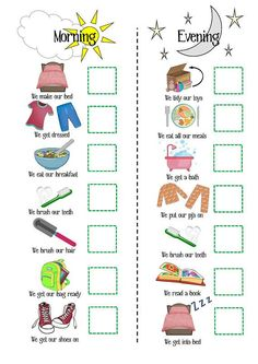 Girls Routine Printable SALE Boys routine printable toddler