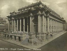 Old Malta...the magnificent Royal Opera house.Bombed during WW2 and left in ruins for years.Now a new modern open air theatre has taken its place by the architect Renzo Piano amidst controversy.