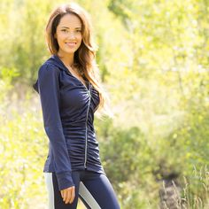 Flatter Me, Navy Zip Hoodie  MUST HAVE someone tell the hubs for Christmas!    http://nutritionella.com/2013/11/fall-fitness-leisure-apparel-from-albion-fit/