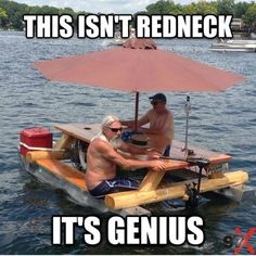 Most Epic Redneck Invention Ever - Laugh 4 Humor Funny Shit, The Funny, Funny Memes, Hilarious, Daily Funny, Funny Fishing Memes, Funny Stuff, Redneck Humor, Haha