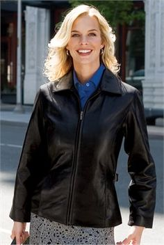 Image of Port Authority Ladies Lambskin Jacket Park Avenue Leather Outerwear