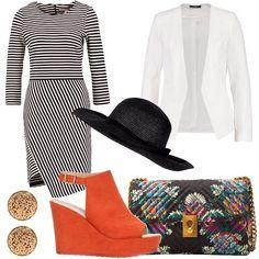 67b1d8c93ad0 Passeggiata al mare con il cappello  outfit donna Chic per tutti i giorni