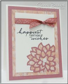 May Flowers Framelits, Falling Flowers, Watercolor Wishes, Stampin' Up!, #stampinup, created by Connie Babbert, www.inkspiredtreasures.com