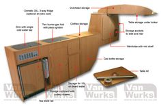 type 2 bay window kombi internal dimensions - Google Search