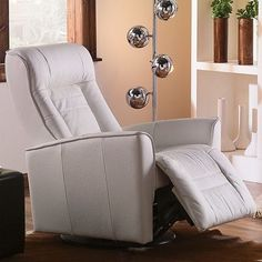 Palliser Furniture Glacier Bay II Swivel Glider Recliner Upholstery: All Leather Protected - Tulsa II Stone, Leather Type: Leather PVC/Match, Type:...
