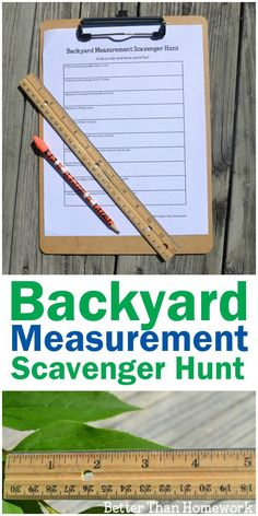 Take your learning outside with this fun backyard measurement scavenger hunt. Grab your printable scavenger hunt and get ready to learn math outside. Great activity for the family. Teaching Measurement, Measurement Activities, Outdoor Activities For Kids, Outdoor Learning, Kids Learning Activities, Teaching Math, Fun Learning, Summer Activities, Nature Activities